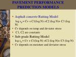 pavement performance prediction models35