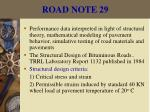 road note 2921