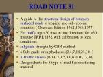 road note 31