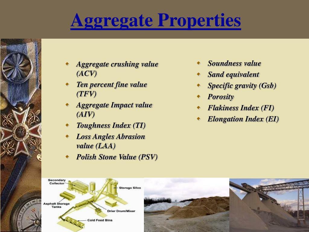 Aggregate Properties