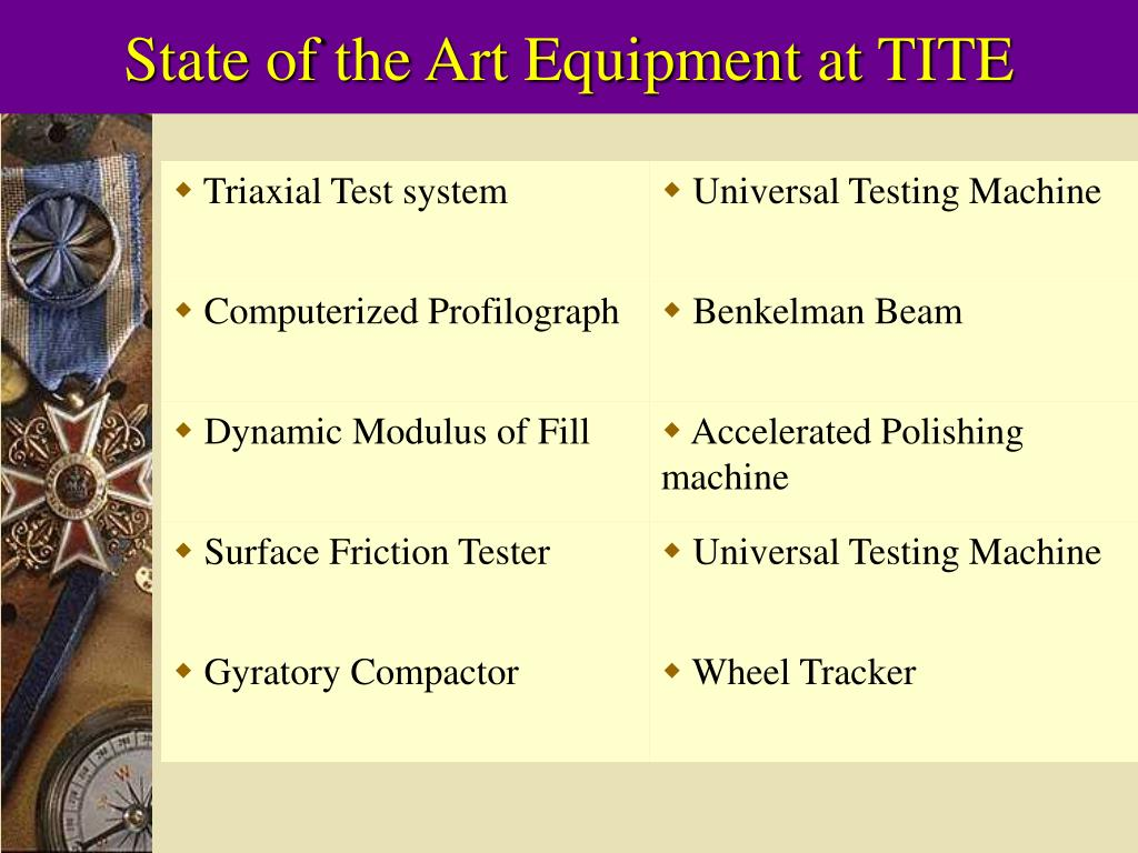 State of the Art Equipment at TITE