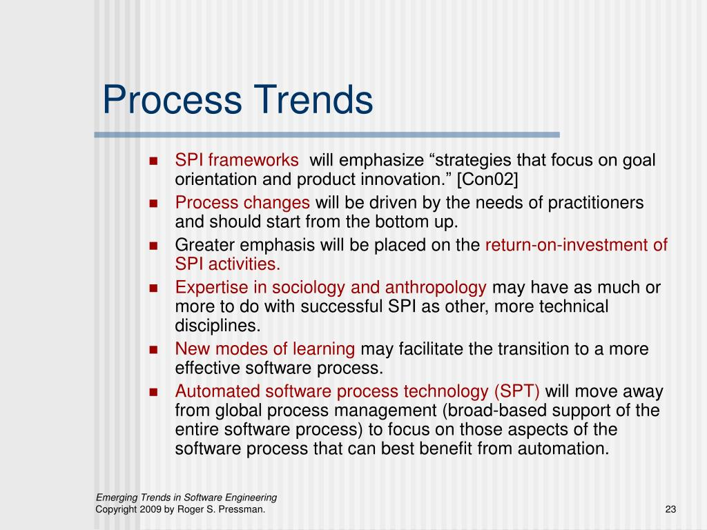 Process Trends