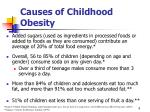 causes of childhood obesity9