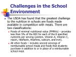 challenges in the school environment21