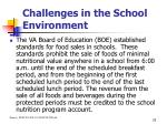 challenges in the school environment25