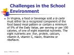 challenges in the school environment26
