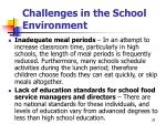 challenges in the school environment29