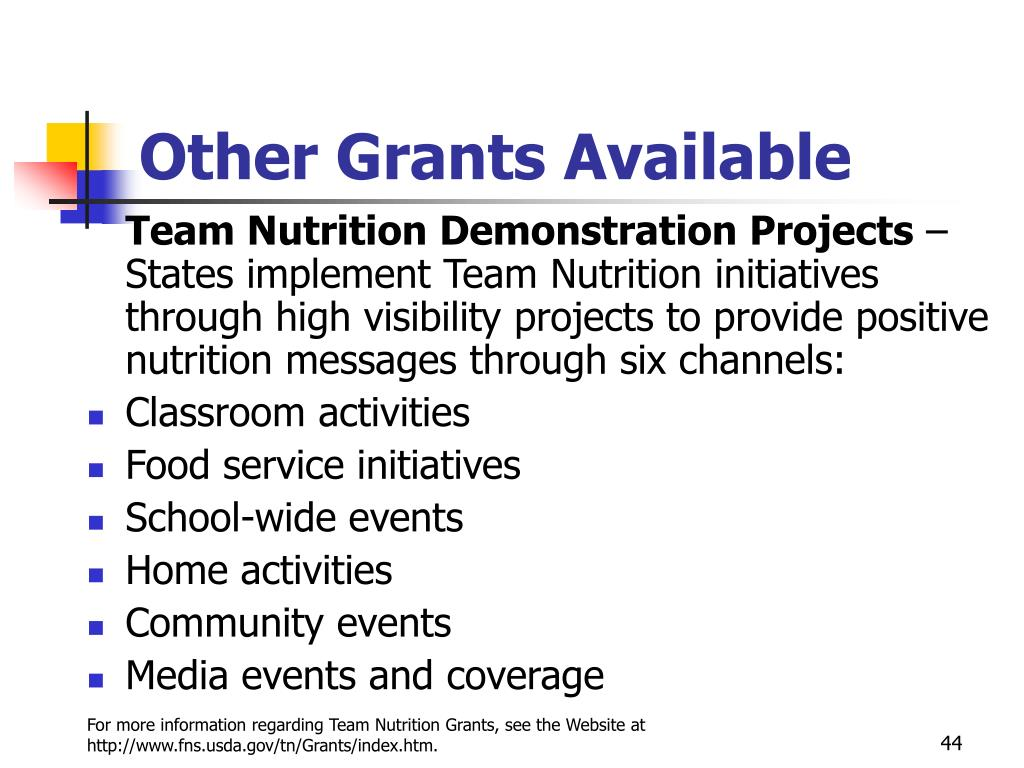 Other Grants Available