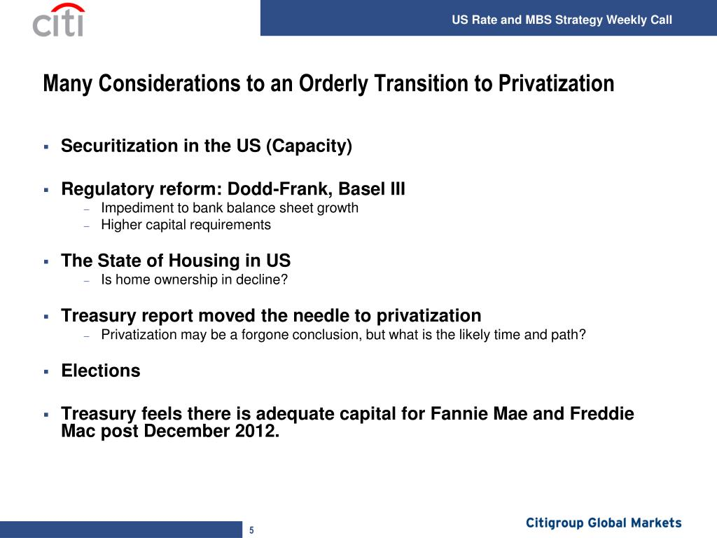 Many Considerations to an Orderly Transition to Privatization