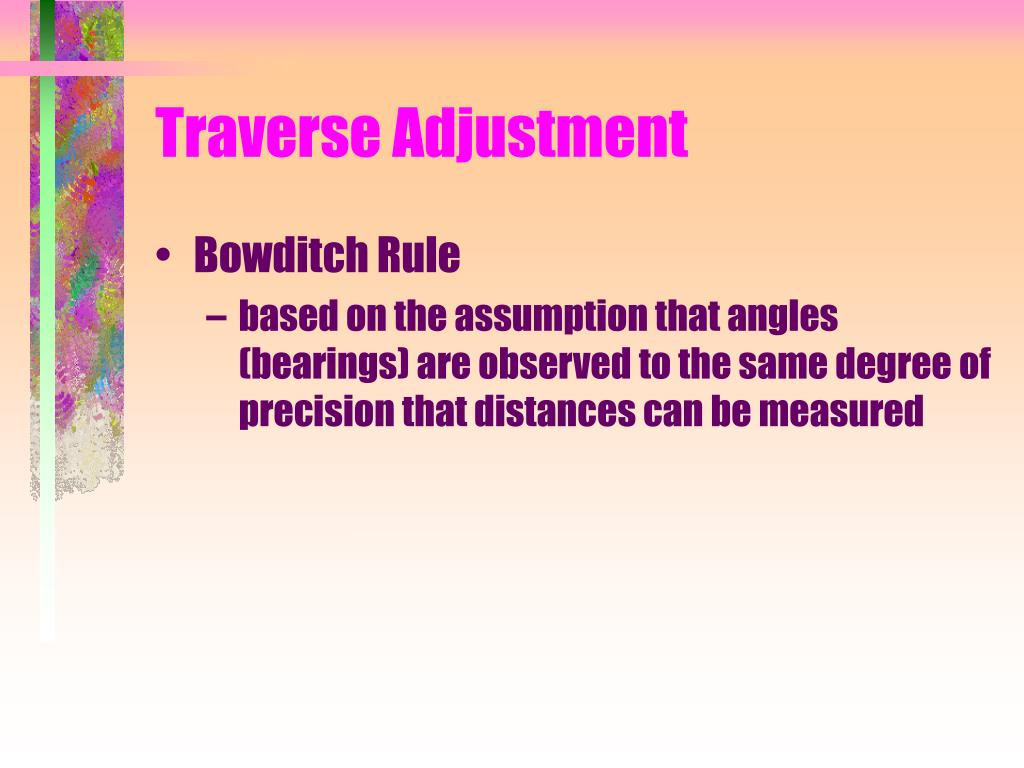 Traverse Adjustment
