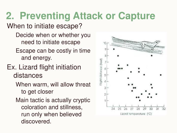 2.  Preventing Attack or Capture
