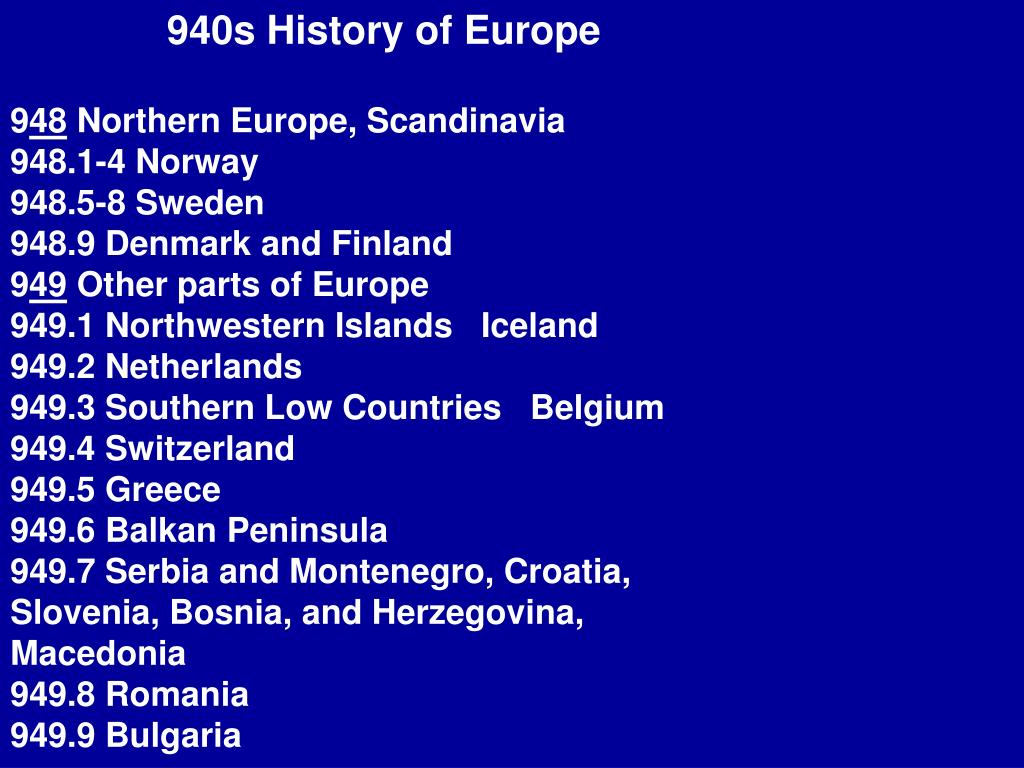 940s History of Europe
