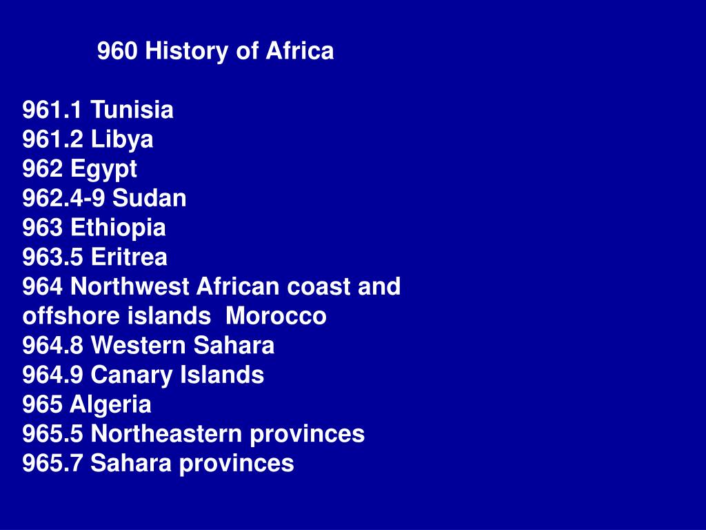 960 History of Africa