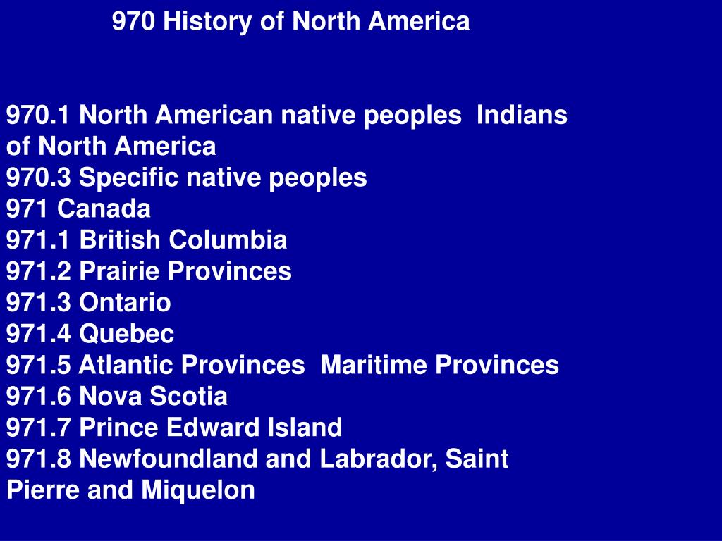 970 History of North America