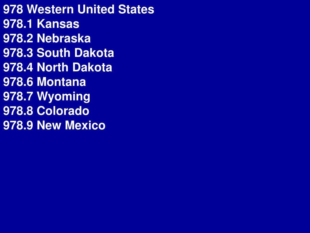 978 Western United States