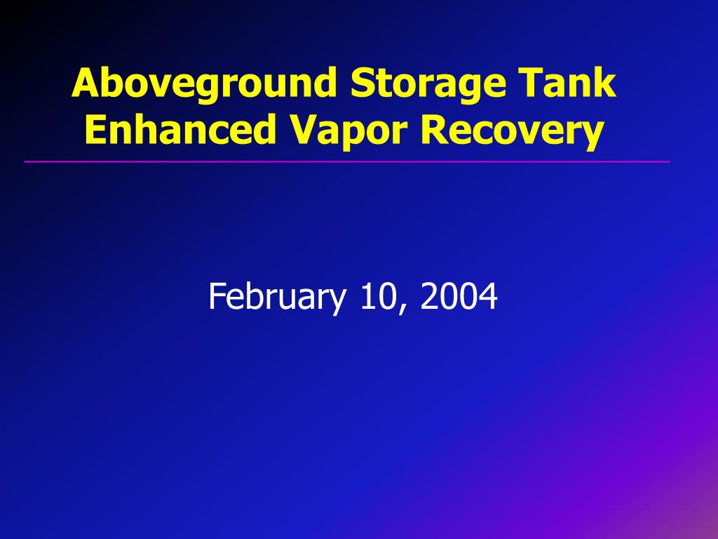 Aboveground Storage Tank