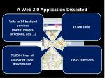 a web 2 0 application dissected