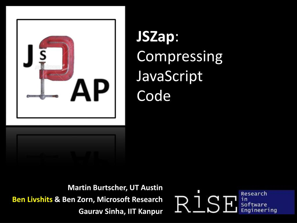 jszap compressing javascript code
