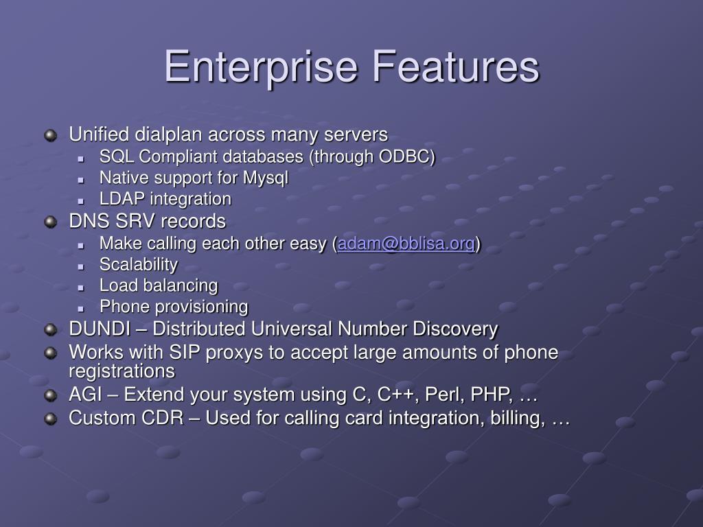 Enterprise Features
