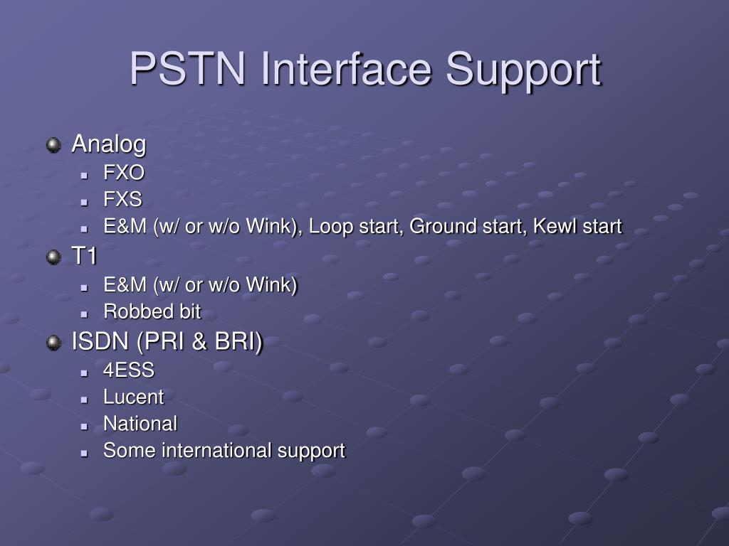 PSTN Interface Support