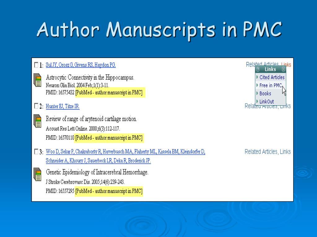 Author Manuscripts in PMC
