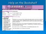 help on the bookshelf