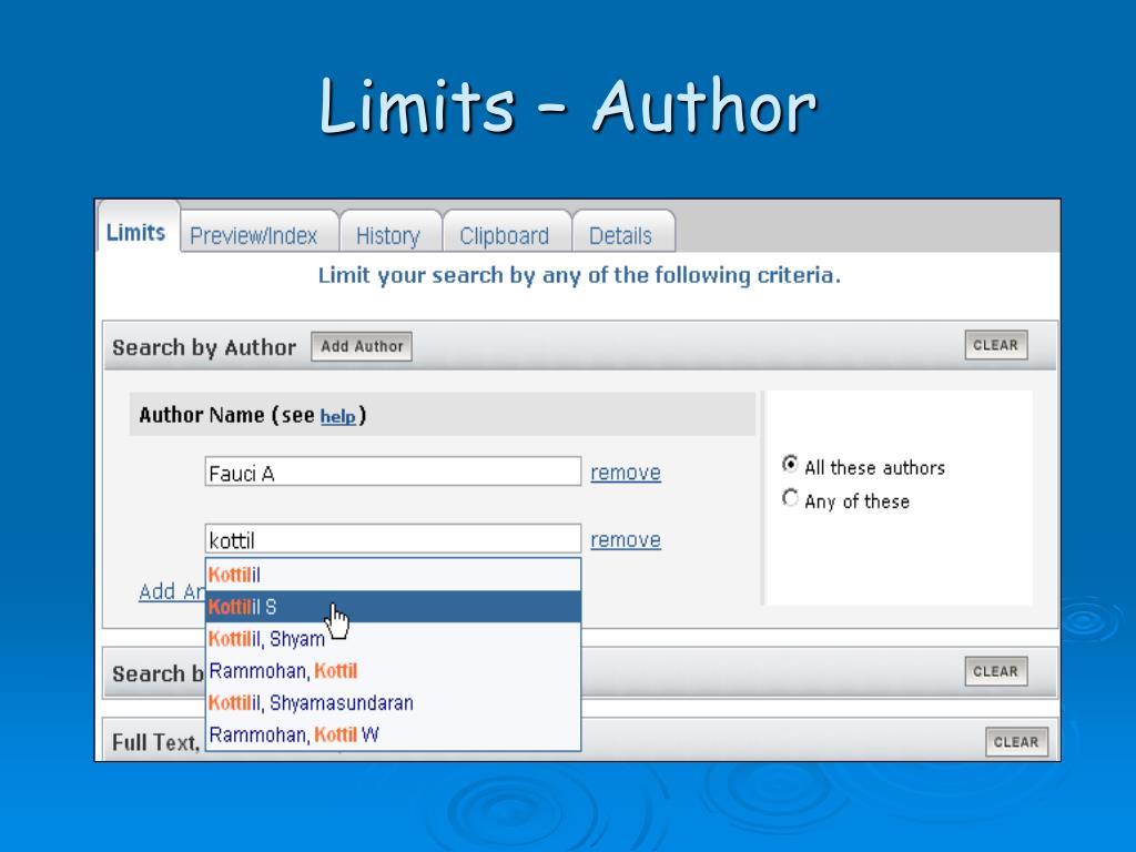 Limits – Author