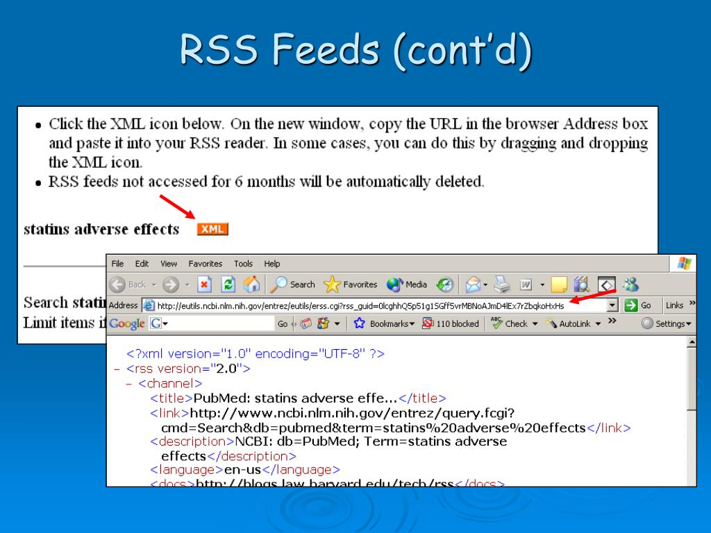 RSS Feeds (cont'd)