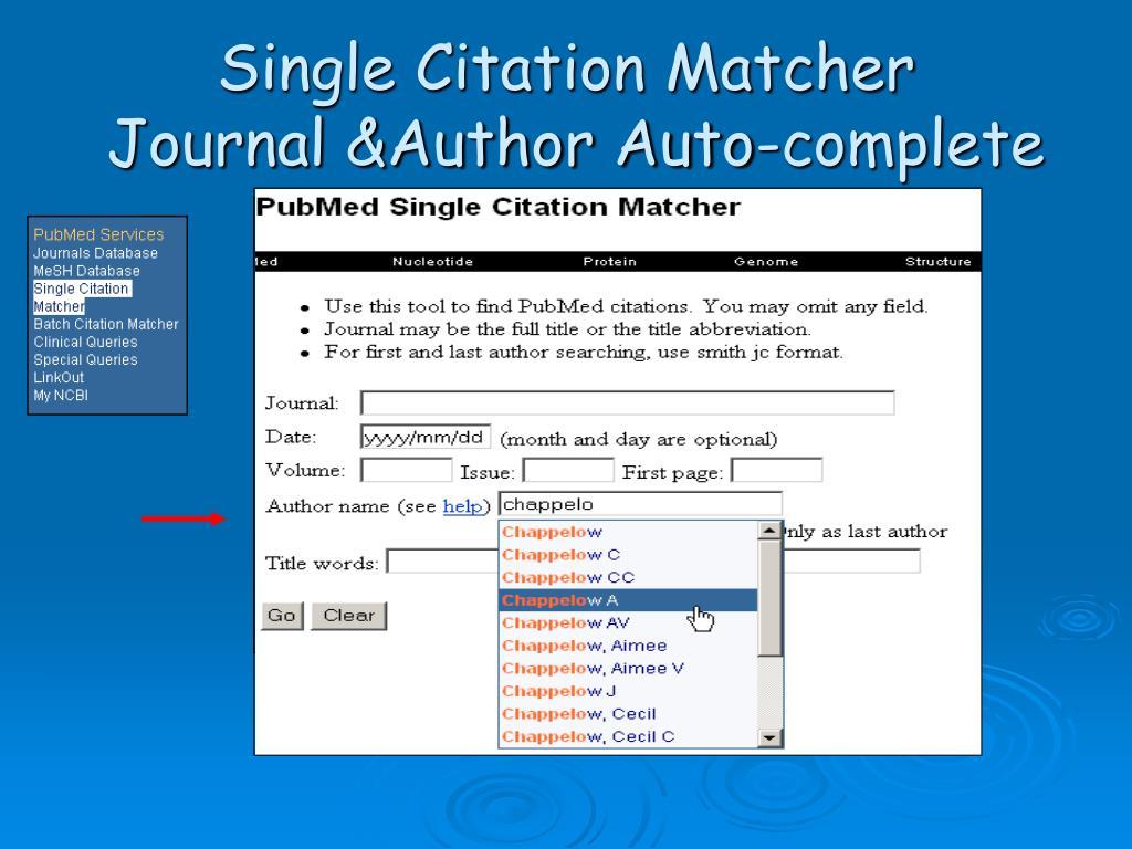 Single Citation Matcher