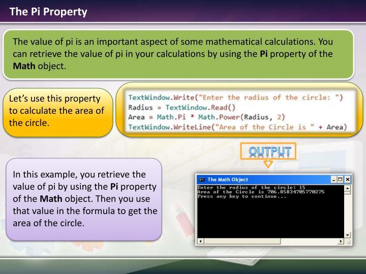 The Pi Property