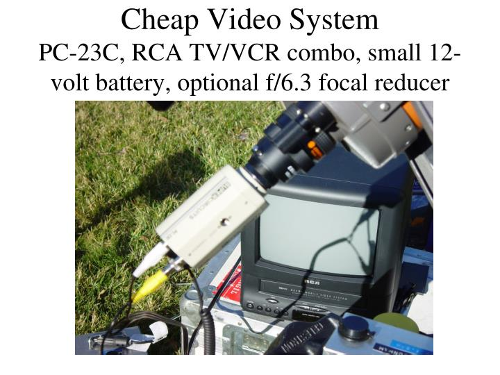 Cheap Video System