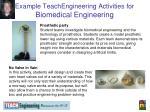 example teachengineering activities for biomedical engineering
