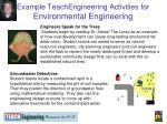 example teachengineering activities for environmental engineering