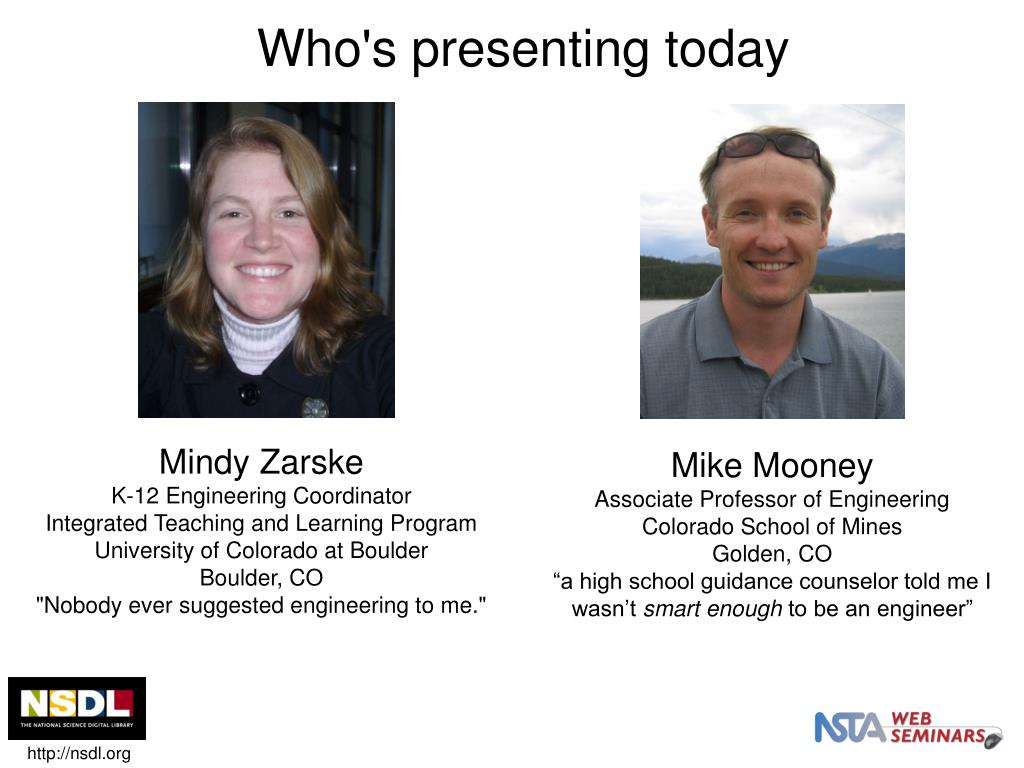 Who's presenting today