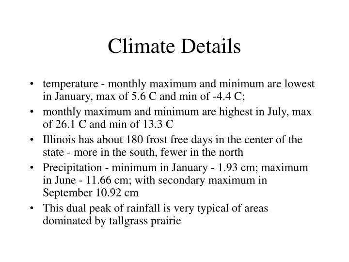 Climate Details