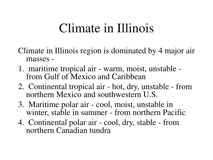 Climate in Illinois