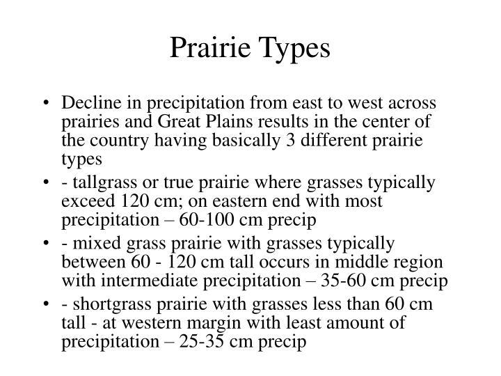Prairie Types