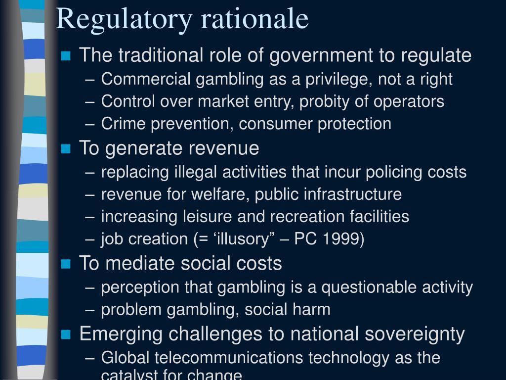 Regulatory rationale