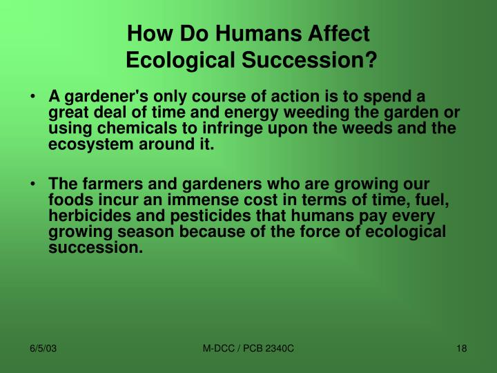 How Do Humans Affect
