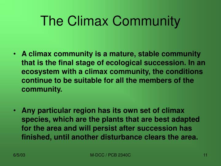 The Climax Community