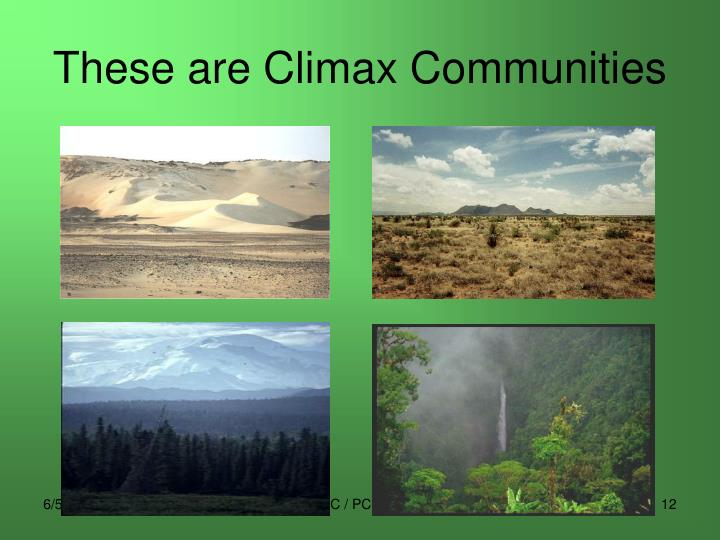 These are Climax Communities