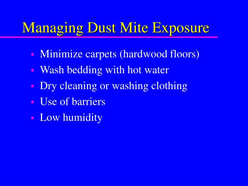 Managing Dust Mite Exposure