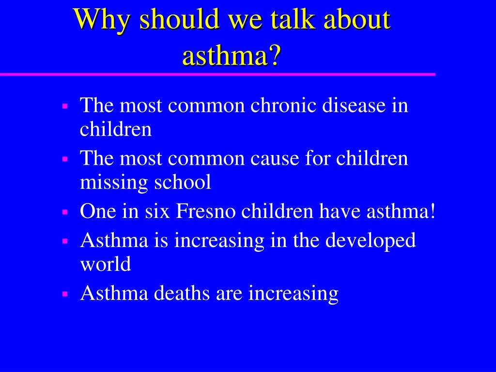 Why should we talk about asthma?