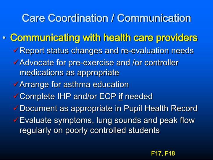 Care Coordination / Communication