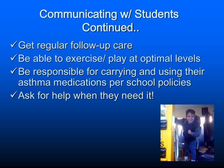 Communicating w/ Students
