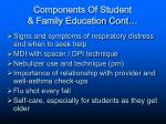 components of student family education cont