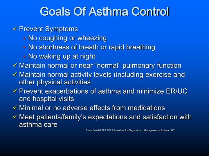 Goals Of Asthma Control