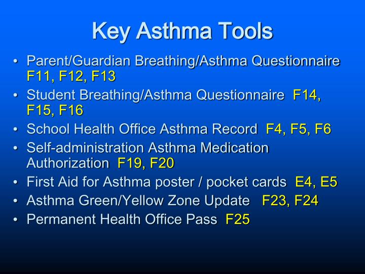 Key Asthma Tools