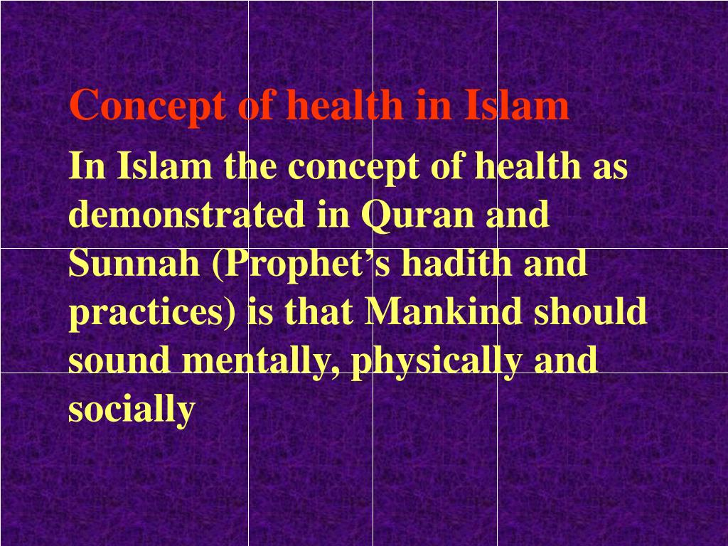 Concept of health in Islam