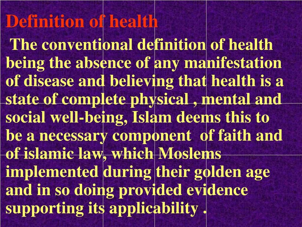Definition of health